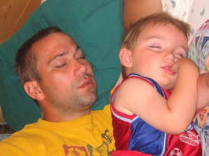 Ethan and Dean napping 2005