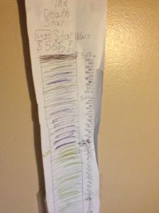 Goal tracking chart