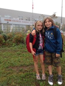 Ethan and Audra First Day at Kingswood